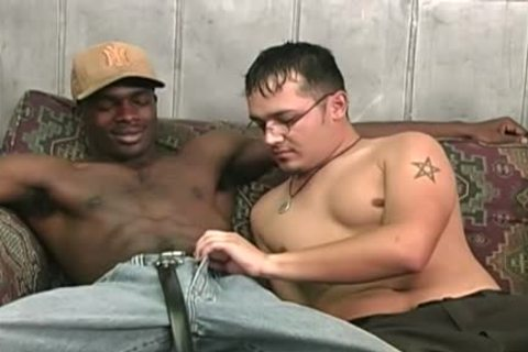 Hung darksome dudes Sharing A lascivious White man