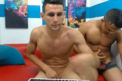 3 Colombian wild males pound On webcam
