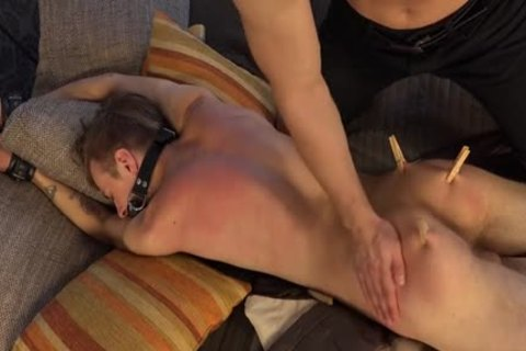 horny twinks spanking With cream flow
