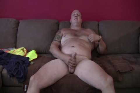 sleazy Tattooed fat Construction Worker Solo